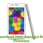 Intex Aqua 4.5 Pro Firmware