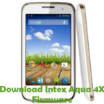 Intex Aqua 4X Firmware