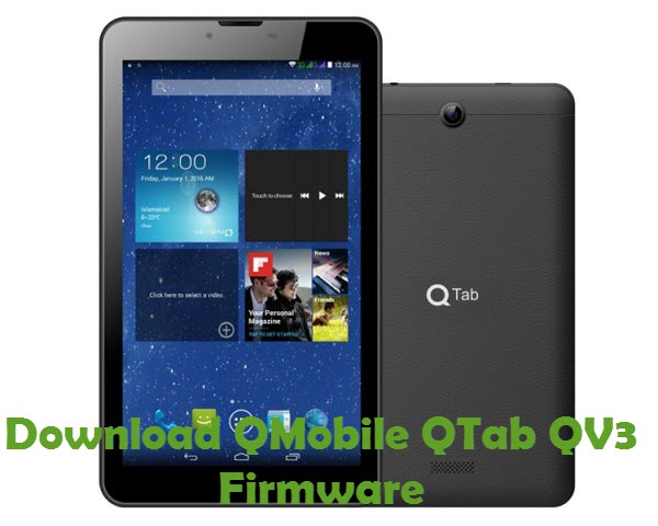 Download QMobile QTab QV3 Firmware
