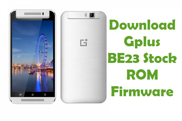 Gplus BE23 Firmware