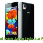 Intex Aqua Style 4.0 Firmware