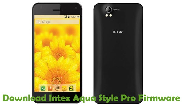 Download Intex Aqua Style Pro Firmware