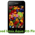 Intex Aqua X15 Firmware