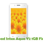 Intex Aqua Y2 1GB Firmware