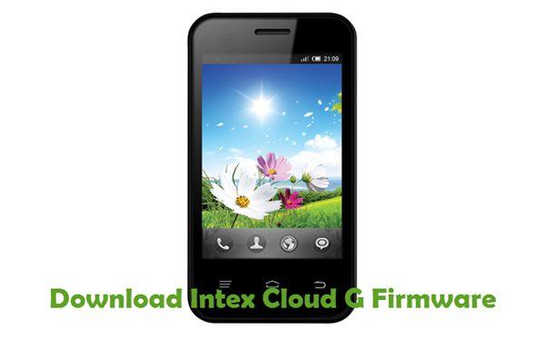 Download Intex Cloud G Firmware