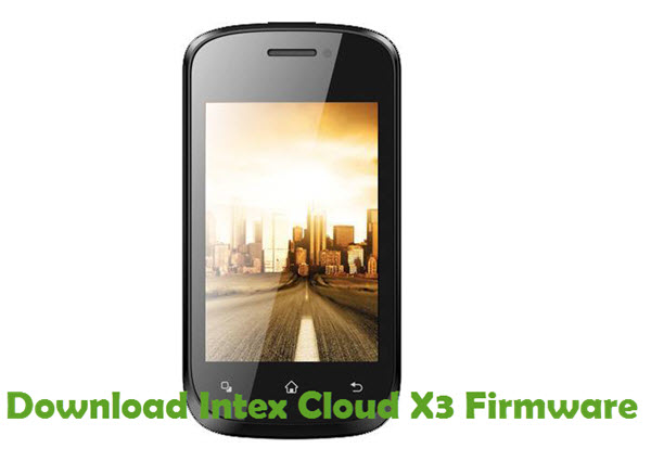 Download Intex Cloud X3 Firmware