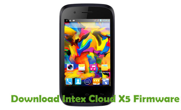 Download Intex Cloud X5 Firmware