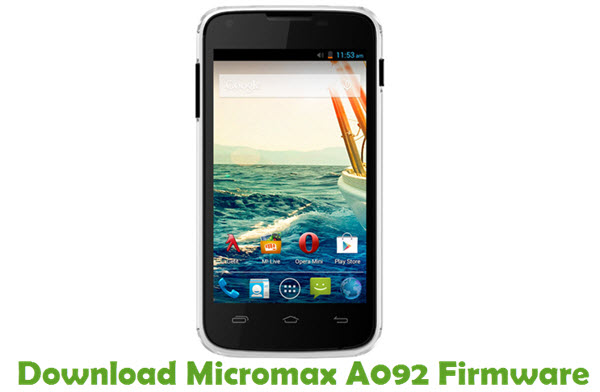 Download Micromax A092 Firmware