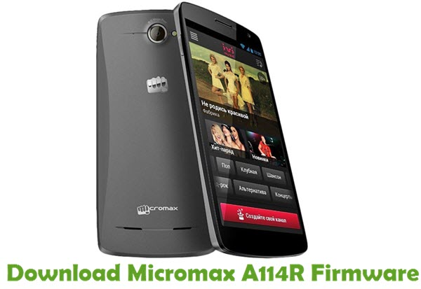 Download Micromax A114R Firmware