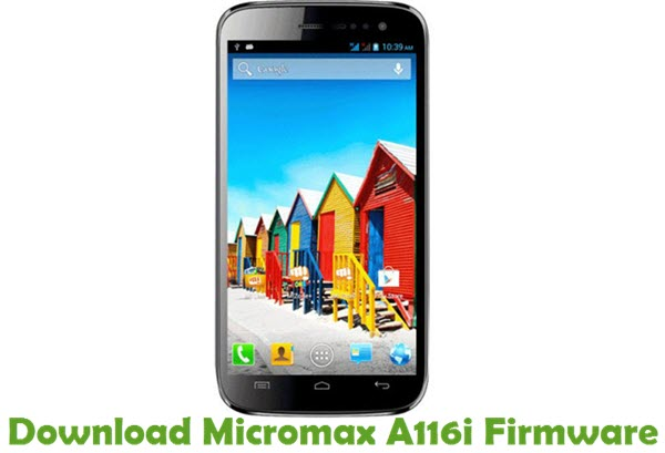 Download Micromax A116i Firmware