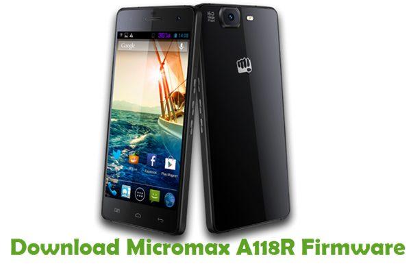 Download Micromax A118R Firmware