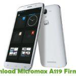 Micromax A119 Firmware