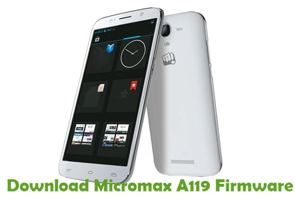 Download Micromax A119 Firmware