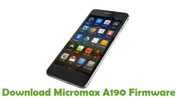 Download Micromax A190 Firmware