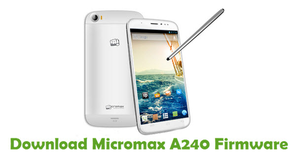 Download Micromax A240 Firmware