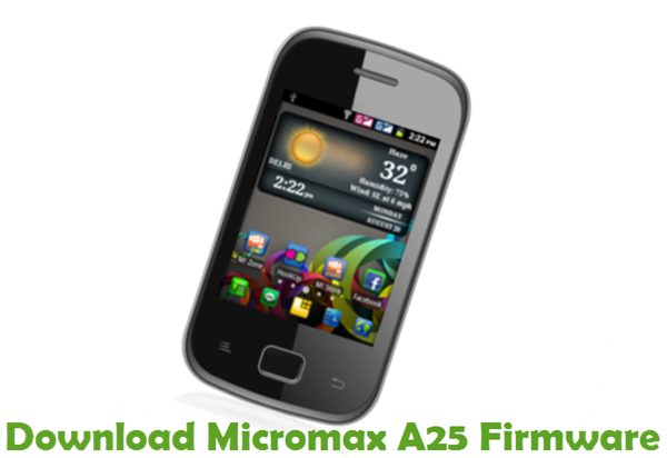 Download Micromax A25 Firmware
