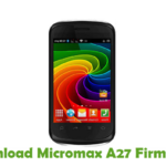Micromax A27 Firmware