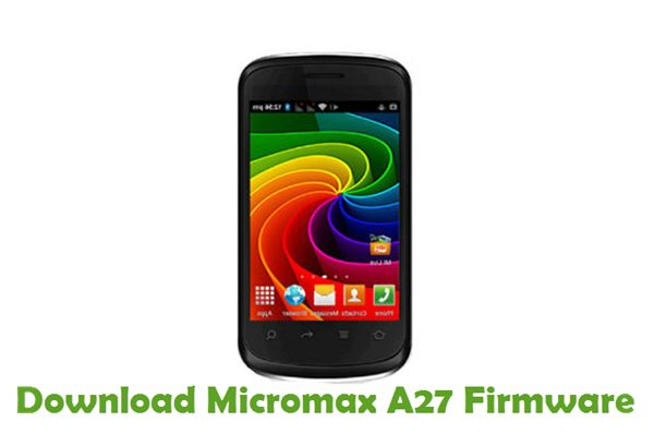 Download Micromax A27 Firmware
