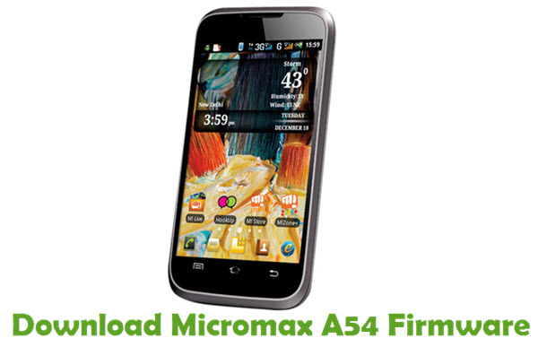 Download Micromax A54 Firmware