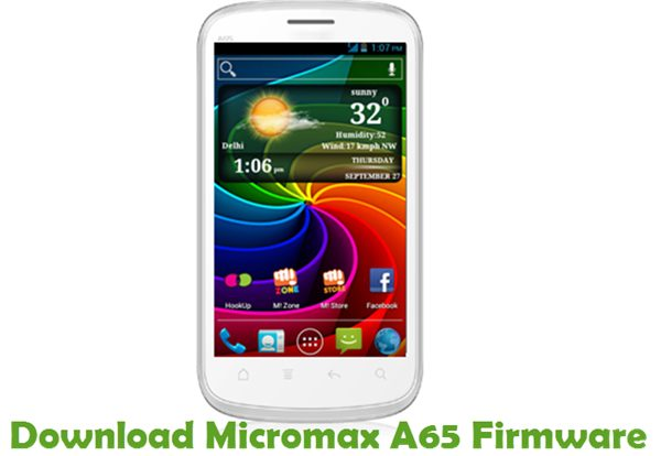 Download Micromax A65 Firmware