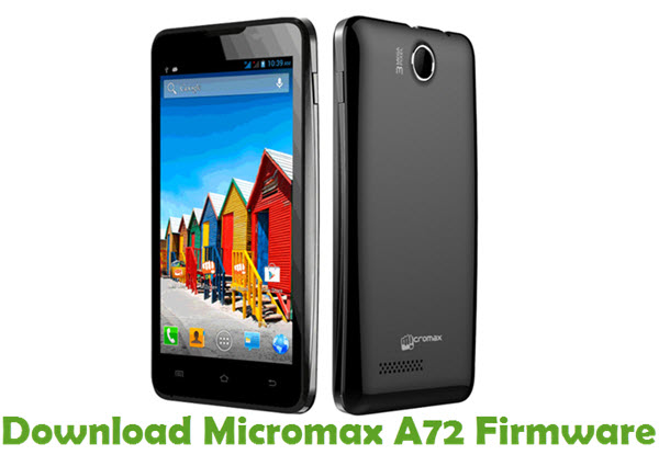 Download Micromax A72 Firmware