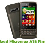 Micromax A78 Firmware