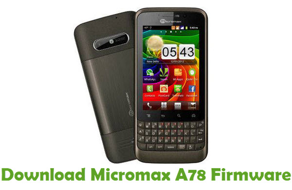 Download Micromax A78 Firmware