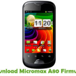 Micromax A80 Firmware