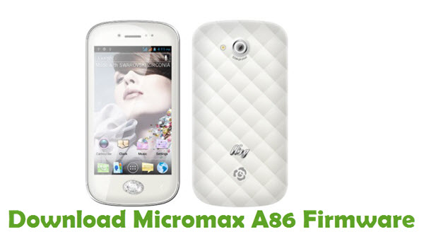 Download Micromax A86 Firmware