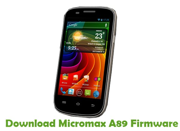 Download Micromax A89 Firmware