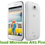 Micromax A92 Firmware