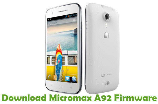 Download Micromax A92 Firmware