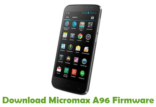 Download Micromax A96 Firmware