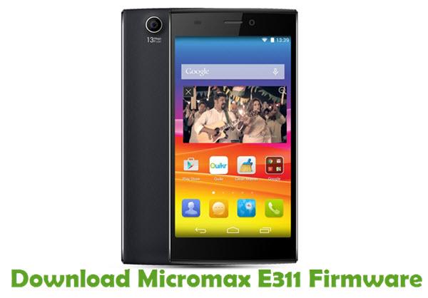 Download Micromax E311 Firmware