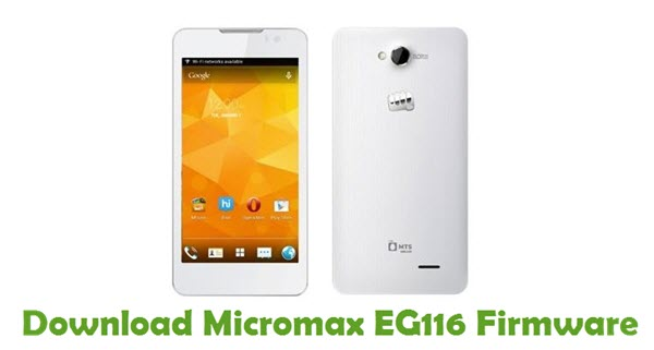 Download Micromax EG116 Firmware
