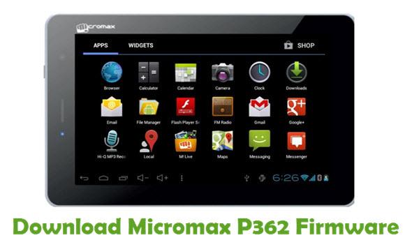 Download Micromax P362 Firmware