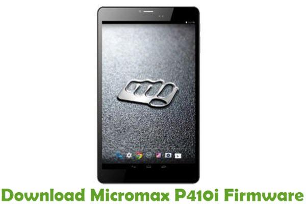 Download Micromax P410i Firmware