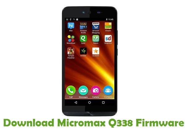 Download Micromax Q338 Firmware