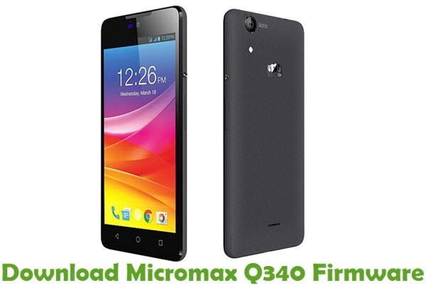 Download Micromax Q340 Firmware