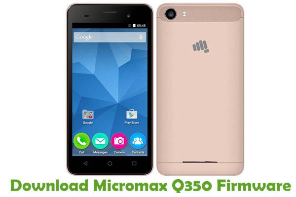Download Micromax Q350 Firmware