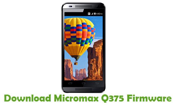 Download Micromax Q375 Firmware