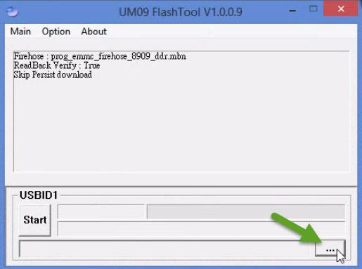 Load Firmware File UM09