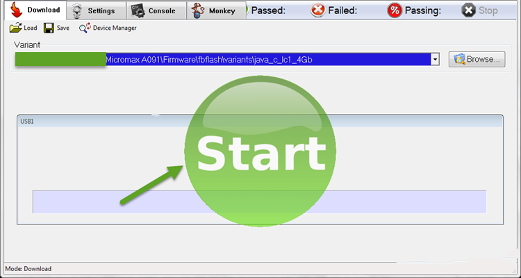 Start Flashing DFU Flash Tool