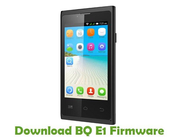 Download BQ E1 Stock ROM