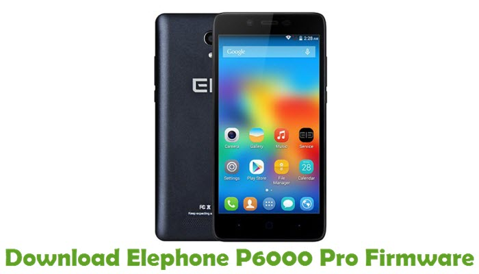 Download Elephone P6000 Pro Firmware