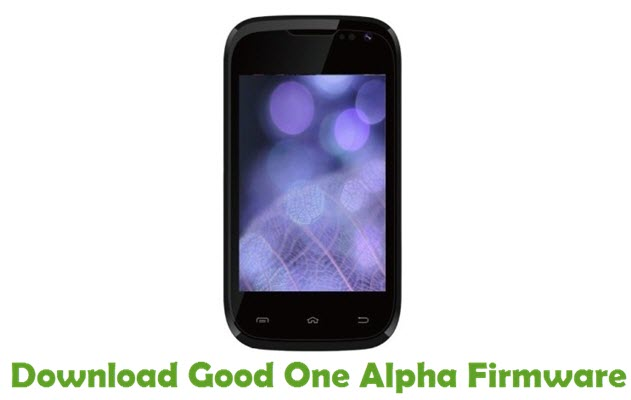Download Good One Alpha Firmware