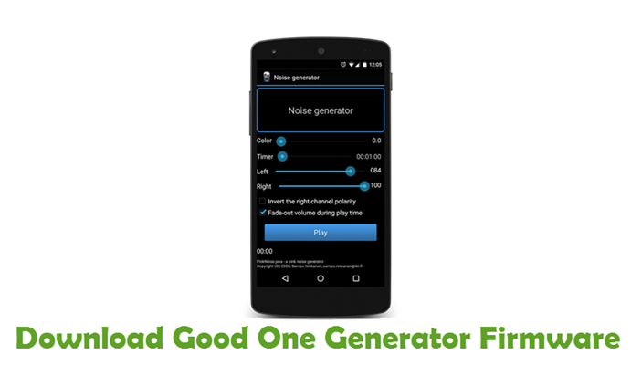 Download Good One Generator Firmware