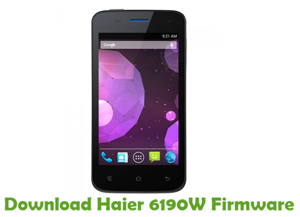 Download Haier 6190W Firmware