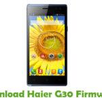 Haier G30 Firmware