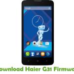 Haier G31 Firmware